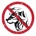 Dogs forbidden banning stamp ilustration of the acces with Stock Photo