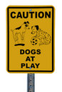 Dogs at Play sign Stock Photo