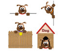 Dogs set icons funny Royalty Free Stock Photography