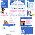Dogs template design brochure flyer and business card in one package and fully editable Royalty Free Stock Image