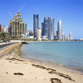 Doha bay scenics Royalty Free Stock Photo