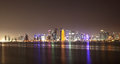 Doha skyline at night, Qatar Royalty Free Stock Photo
