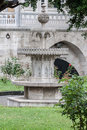 Dohlmabace palace istanbul a fountain in the gardens of turkey Royalty Free Stock Photo