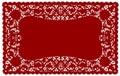 Doily lace mat place vintage 免版税库存照片