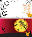 Dois frames de Halloween do grunge. Foto de Stock Royalty Free