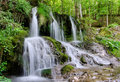 Dokuzak waterfall in strandja mountain Royalty Free Stock Image