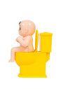 Doll, Baby Toy Sit On Toilet B...