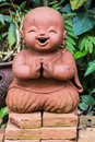 Doll clay monk used in thailand wat lok mo lee chiangmai Royalty Free Stock Photos