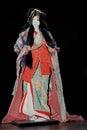 The doll of geisha in the traditional kimono Royalty Free Stock Photo