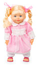 Doll in pink dress Royalty Free Stock Photo