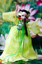 Doll playing taichi shot of Royalty Free Stock Image