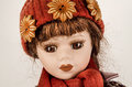 Doll the vintage girl baby Royalty Free Stock Images