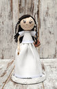 Doll with wedding dress Royalty Free Stock Photo