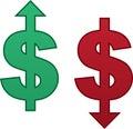 Dollar Arrow Up Down Royalty Free Stock Photo