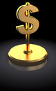 Dollar award d illustration of sign over black background Stock Photo