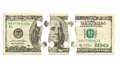 Dollar bank note money puzzle banks Stock Photography