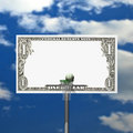 Dollar basketball board, ring, grid and ball Royalty Free Stock Images