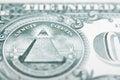 Dollar bill back Royalty Free Stock Photo