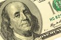 Dollar bill benjamin franklin hundred with a portrait of Royalty Free Stock Photography