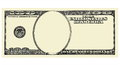 100 Dollar Bill Front with No Face, isolated for design Royalty Free Stock Photo