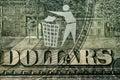 Dollar bill with a logo Trash Stock Photo