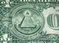 Dollar bill pyramid Stock Photography