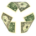 Dollar bill recycle sign Photos libres de droits