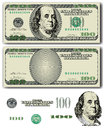 Dollar bill vector with easy removable elements Royalty Free Stock Photo