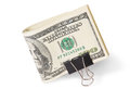 Dollar Bills With Clip Royalty Free Stock Photo