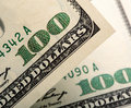 Dollar bills closeup of Stock Photos