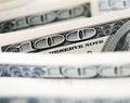 Dollar bills closeup of Stock Image