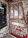 Dollar bills cover saloon doors Royalty Free Stock Photo