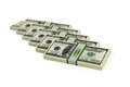 Dollar bills d rendering of Royalty Free Stock Photos