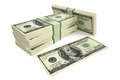 Dollar bills d rendering of Royalty Free Stock Image