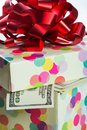 Dollar bills gift box full of Royalty Free Stock Image