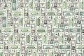 Dollar bills texture Stock Photos