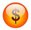 Dollar Button Royalty Free Stock Photo