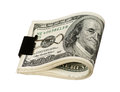 Dollar with clip Royalty Free Stock Photo