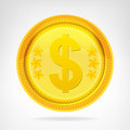 Dollar Coin Golden Currency Ob...