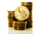 Dollar coin isolated Royalty Free Stock Photo