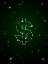 Dollar constellation Stock Image