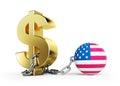Dollar crisis USA Royalty Free Stock Photo