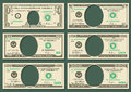 Dollar currency notes vector money templates Royalty Free Stock Photo