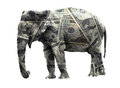 Dollar elephant Royalty Free Stock Image
