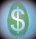 Dollar Finger Print Royalty Free Stock Photos