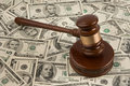 Dollar and Gavel Royalty Free Stock Photos