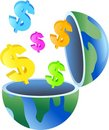 Dollar globe Royalty Free Stock Images