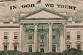 Dollar in god we trust with sign Royalty Free Stock Image