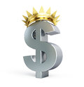 Dollar gold grown Royalty Free Stock Images