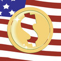 Dollar golden emblem Royalty Free Stock Photo